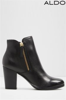 Aldo Ankle Boots With Side Zip