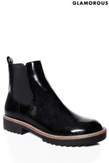 Glamorous Patent Chelsea Boots