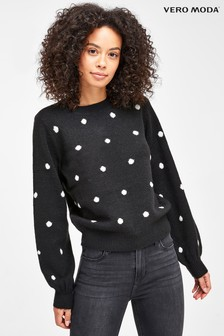 Vero Moda Polka Dot Balloon Sleeve Jumper