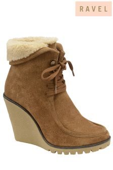 Ravel Wedge Ankle Boots