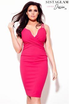 فستان بحمالات أشرطة متعددة من Sistaglam Loves Jessica