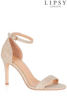 Lipsy Lurex Barely There Sandals