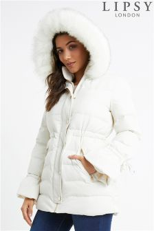 Lipsy Faux Fur Hood Padded Jacket