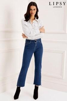 61eb862a5f0 Lipsy Bella High Rise Straight Leg Belted Regular Length Jean