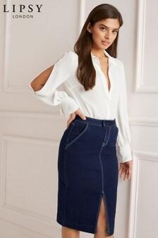 Lipsy Tailored Denim Skirt