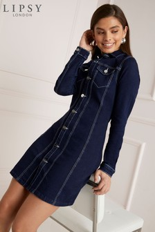 Lipsy Tailored Denim Dress