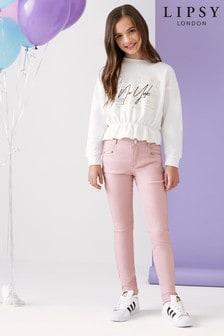 Lipsy Girl塗層窄管牛仔褲