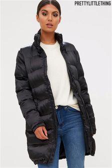 PrettyLittleThing Lexi Long Padded Coat