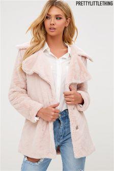 PrettyLittleThing Faux Fur Oversized Coat