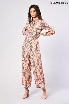 Glamorous Floral Print Jumpsuit