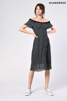 Glamorous Printed Midi Dress