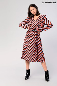 Glamorous Stripe Midi Dress