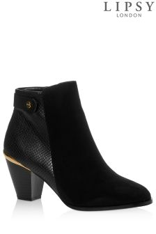 Lipsy Faux Reptile Detail Ankle Boots