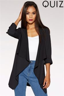 Quiz Waterfall Ruched Front Jacket