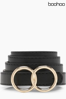 Boohoo Double Ring Belt