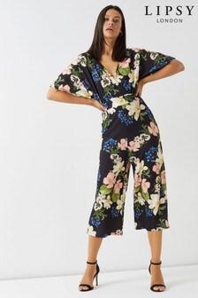 Lipsy Floral Culotte Jumpsuit
