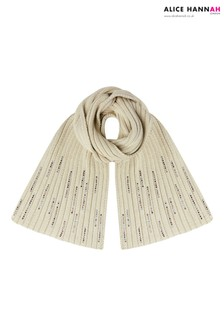 Alice Hannah Knitted Diamante Scarf