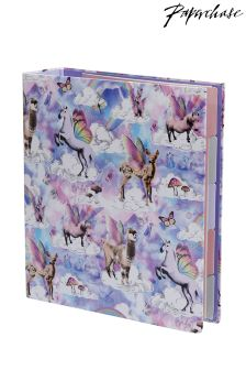 Paperchase Flyaway Unicorn Lever Arch File