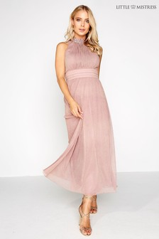 Little Mistress Glitter Lurex Maxi Dress