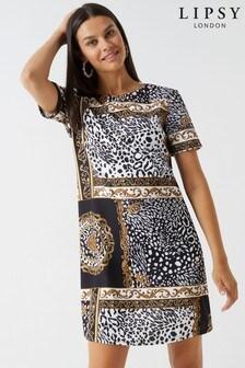 Lipsy Leopard Chain Shift Dress