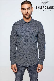 Threadbare Long Sleeve Printed Shirt