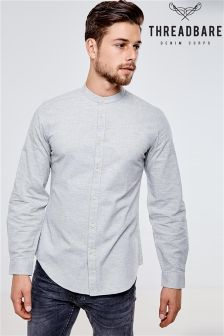 Threadbare Long Sleeve Grandad Shirt