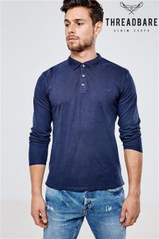Threadbare Long Sleeve Polo Shirt