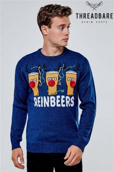Threadbare Pom Pom Novelty Christmas Jumper