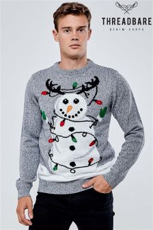 Threadbare Novelty Christmas Light Jumper