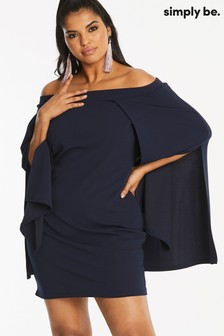 Simply Be Cape Bardot Dress