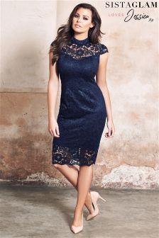 Sistaglam Loves Jessica Lace Bodycon Dress