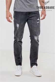 Threadbare Rip And Repair Stretch Jeans