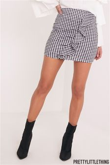 PrettyLittleThing Gingham Ruffle Mini Skirt