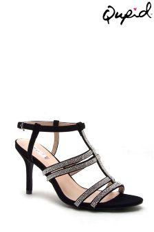 Zdobione sandały na paseczkach Qupid