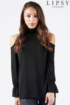Lipsy High Neck Cold Shoulder Blouse