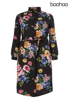 Boohoo Plus Floral Shirt Dress