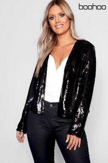 Boohoo Plus Sequin Blazer