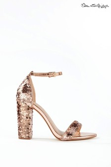 Miss Selfridge Sequin Block Heel