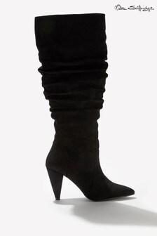 Miss Selfridge Cone Heel Slouch Boots
