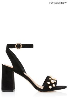 Forever New Pearl Block Heel Sandals