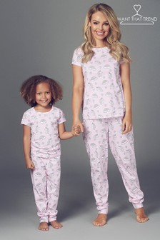 Want That Trend Rainbow And Unicorn PJ set