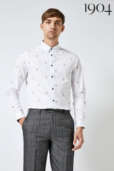 1904 Feather Print Oxford Shirt