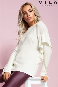 Vila Ruffle Shoulder Jumper