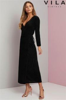 Vila Wrap Midi Dress