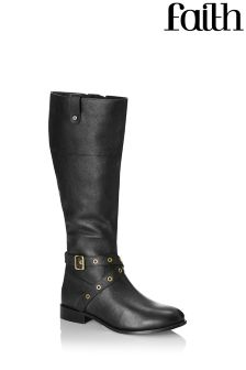 Faith Leather Riding Boots