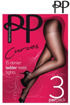 Pretty Polly Plus Size 3pp Ladder Resist Tights