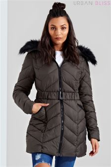 Urban Bliss Padded Belted Coat