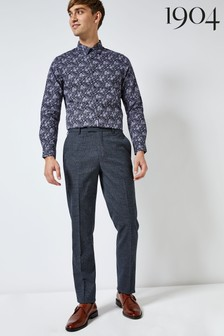 1904 Textured Check Suit Trousers