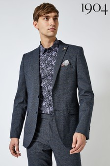 1904 Slim Textured Check Suit Jacket