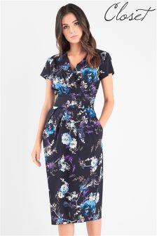 Sukienka midi Closet w motywy kwiatowe